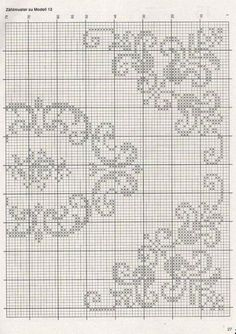 This Pin was discovered by Ayç Cross Stitch Borders, Cross Stitch Flowers, Cross Stitch Designs, Cross Stitching, Cross Stitch Embroidery, Embroidery Patterns, Cross Stitch Patterns, Filet Crochet Charts, Crochet Cross