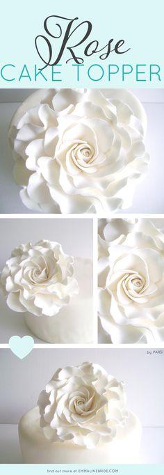 Rose Cake Topper   by Parsi   http://emmalinebride.com/2016-giveaway/rose-cake-topper/