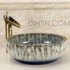 Multicolored Painted Ceramic Sinks Handmade Artisan Basins - Painted Ceramic Sinks - Sinks - Bath