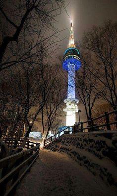 N-Seoul Tower in Namsan Seoul,Korea