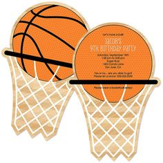 printable girls basketball party invitations - Google Search