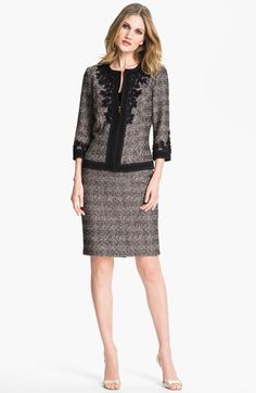 Caviar Multi St. John Collection Graphic Tweed Jacket available at #Nordstrom