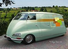 Citroen DS Tissier Van - 1960..................NOTE: That front end makes me think of a bull terrier.