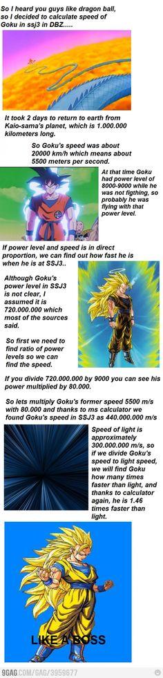 Awesomeness level: Goku
