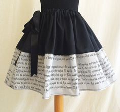Hey, I found this really awesome Etsy listing at https://www.etsy.com/listing/286036719/shakespeare-hamlet-skirt-literature