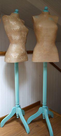 Maniquíes turquesa/craft / Turquoise mannequins