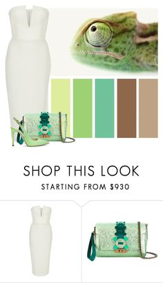 """Chameleon"" by cherieaustin ❤ liked on Polyvore featuring Seed Design, Alex Perry and Anya Hindmarch"