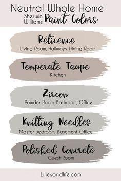 Taupe Paint Colors, Farmhouse Paint Colors, Paint Color Schemes, Paint Colors For Home, House Color Schemes Interior, Taupe Color Schemes, Neutral Colors, Home Color Schemes, Modern Paint Colors