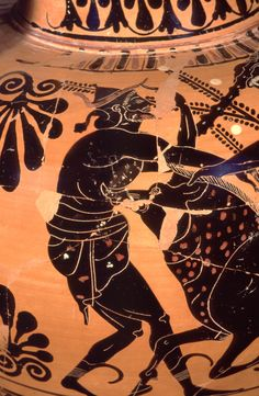 Collection:Cambridge, Harvard University Art Museums 1960.314 Side A: Herakles and the Erymanthian Boar. Side B: Warriors leaving home. Ware:Attic Black Figure Painter:Attributed to the Acheloos Painter Context:From Caere Date:ca. 510 BC - ca. 500 BC Dimensions: H. 0.409 m.; D. 0.279 m.  Primary Citation:Para, 169.4 bis. Shape:Neck amphora Region:Etruria Period:Archaic