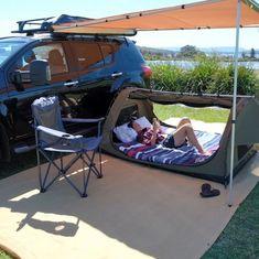 Truck Camping Hacks & lkw-camping-hacks & Campinghacks d Auto Camping, Minivan Camping, Truck Camping, Camping Survival, Camping Hacks, Camping Gear, Outdoor Camping, Tent Camping Beds, Group Camping