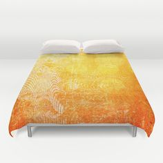 Full+Moon+Rising+Duvet+Cover+by+Vikki+Salmela+-+$99.00 #sun #bright #yellow #orange #abstract #art for #duvet #covers for #bed #bedroom #home #decor.