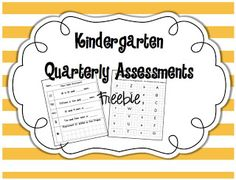 Kindergarten Assessment Freebie!