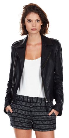 Slideshow: 27 Of The Very Best Black Leather Jackets—At Every Possible Price Biker Leather, Black Leather, Red Suede Jacket, Brown Trench Coat, Best Leather Jackets, Best Black, Celebrity Outfits, Outerwear Women, Jeans And Boots