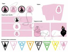 kit à imprimer pour #sweettable #Barbapapa