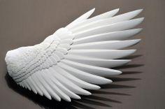 Handmade Wood & Paper Birds by Zack Mclaughlin Paper Birds, 3d Paper, Paper Clay, Paper Flowers, Paper Crafts Origami, Art Tutorials, Paper Cutting, Sculpture Art, Collages