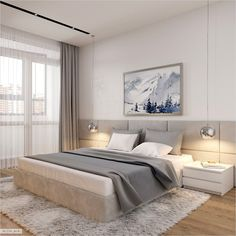 30 Minimalist Bedroom Decor Ideas that are Not Too much but Just Enough - Hike n Dip - - If you think that simplicity is the new chic then here are incredibly simple but truly gorgeous Minimalist Besroom decor Ideas that'll make you skip a beat. Condo Bedroom, Bedroom Bed Design, Apartment Bedroom Decor, Modern Bedroom Design, Contemporary Bedroom, Bedroom Designs, Bedroom Beach, Budget Bedroom, Bedroom Ceiling