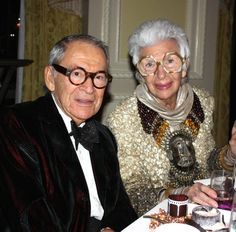 Iris Apfel with company that shares her sense of style.