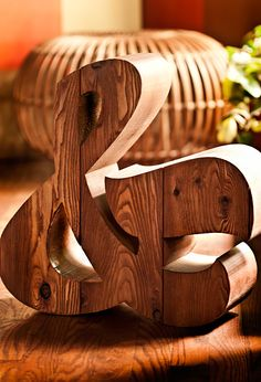 Solid Cedar Ampersand / House Industries