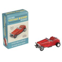 Make Your Own Wind Up Vintage Red Racing Car: Amazon.co.uk: Toys & Games