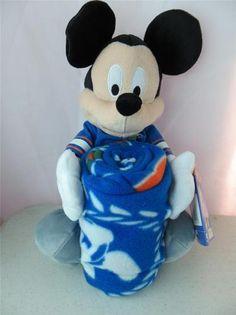 Mickey Mouse Florida Gators Plush Stuff Animal with Fleece Throw Blanket 40x50   eBay