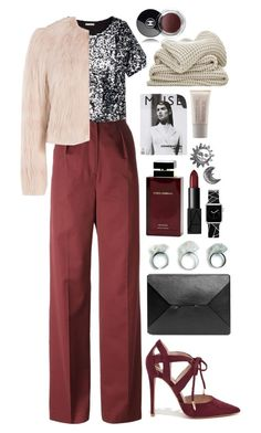"""""""imperfectly perfect."""" by natallama-o ❤ liked on Polyvore featuring Vilshenko, H&M, RED Valentino, Shoe Republic LA, J.W. Anderson, Dolce & Gabbana Fragrance, NARS Cosmetics, Stefanie Sheehan Jewelry, Casetify and Laura Mercier"""