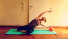 Drei tolle Übungen mit dem Pilatesball! #Pilates #Fitness #Homeworkout