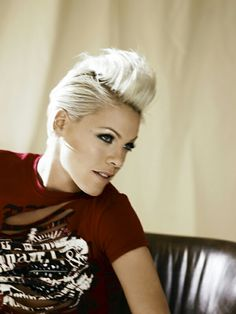 Pink Hairstyles Pink's Spiky Short Pink Haircut For Women  Pinterest  Pink Haircut