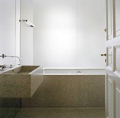 Stone bath by architect Thomas Bendel