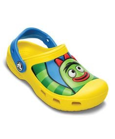 Look at this #zulilyfind! Crocs Yellow Creative Crocs™ Yo Gabba Gabba™ Clog by Crocs #zulilyfinds