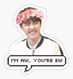 Exo Kpop stickers featuring millions of original designs created by independent artists. 4 sizes available. Exo Stickers, Tumblr Stickers, Printable Stickers, Cute Stickers, Kyungsoo, Chanyeol, Logo Sticker, Sticker Design, Exo Cartoon
