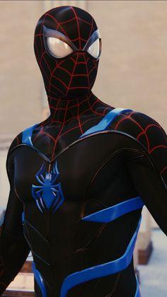Spiderman Pictures, Spiderman Suits, Black Spiderman, Spiderman Spider, Amazing Spiderman, Marvel Comics Art, Marvel Heroes, Marvel Avengers, Spiderman Marvel