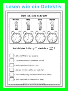 German reading challenge worksheets for your German lessons. Students have to read the sentences attentively and check the given information to decide if the sentences are true or not. This set has 24 worksheets in color and 24 worksheets in black/white. From easy to more challenging. I included all answer keys. Diese deutschen Leserätsel eignen sich besonders gut für den DaF/DaZ Unterricht.