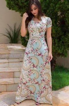 Resultado de imagen para floratta modas Modest Dresses, Modest Outfits, Modest Fashion, Plus Size Dresses, Casual Dresses, Summer Dresses, Blouse And Skirt, Dress Skirt, Vestidos Chiffon