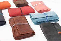 colored leather handmade  tobacco pouch