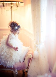 """The Kiss of Swan Lake"". A Beautiful Feather Flower Girl Gown Flower Girl Gown, Flower Girls, Feather Dress, 2015 Wedding Dresses, Christening Gowns, Little Princess, Baby Dress, Girl Fashion, Girls Dresses"