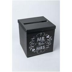 L'urne mariage carrée en lin 25cm