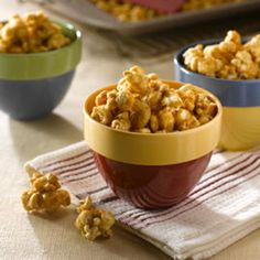 This easy recipe gives you no-fail caramel corn in 10 minutes with just three ingredients – brown sugar, butter and popcorn.