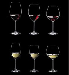 Riedel WINE series glasses.   We carry this spectacular line of varietal specific glassware for our wine loving customers. The glasses combines a light catching stem with a grape specific bowl design, with a finely polished rim that directs the sip of wine precisely to the right taste zone.  We have specialized glasses for: Cabernet/Merlot, Pinot/Nebbiolo, Syrah/Shiraz, Riesling/Sauvignon Blanc, Chardonnay/Viognier, New World Chardonnay, and Champagne.