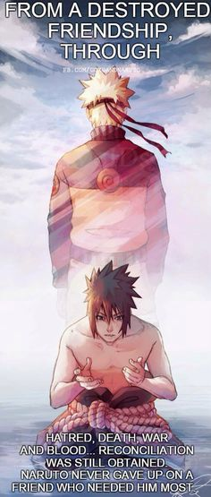 It would have been so much easier to give up and let go, Naruto's commitment is something to truly consider.