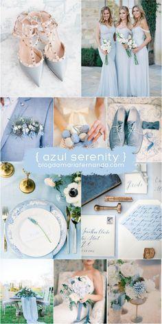Decoração de Casamento : Paleta de Cores Azul Serenity