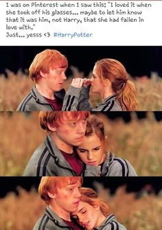 Omg yessss. Whoever wrote this is 1000% the cause of my fan girl feels. (Harry Potter) Romione