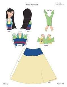 Mulan cut out paper models