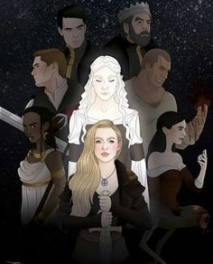 Trono de Vidro personagens