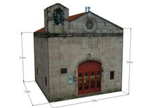 From Spanish website Edifícios De Papel, this is the Saints Cosmas And Damian Chapel Paper Model, a nice building for Dioramas, RPG and Wargames. The model is available in 6 different scales: 1/56 scale(28mm), 1/72 scale, HO scale (1/87), 1/100 scale (15mm), N scale (1/160) and Z scale (1/220).