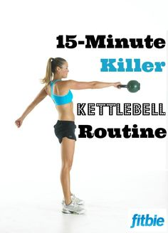 Crunched for time? This quick #kettlebell #workout tones from head to toe! | Fitbie.com