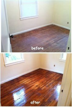 DIY hardwood floor refinish pin now read later Cleaning Wood Floors, Refinishing Hardwood Floors, Diy Flooring, Floor Refinishing, Flooring Ideas, Clean Hardwood Floors, Hardwood Tile, Modern Flooring, Home Renovation