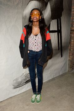 Singer Little Simz attends the PUMA x McQ debut collection. Product Launch, Singer, Street Style, Heart, Collection, Fashion, Moda, Urban Style, Fashion Styles