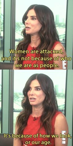 "And then went on to talk about her own personal experience as a woman in the public eye. | Sandra Bullock Had The Best Reaction To Being Named ""World's Most Beautiful Woman"""
