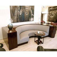 Ateliers DE COENE Freres - Unique Macassar Lounge (333 cm) - Catawiki Art Deco Furniture, Cool Furniture, Living Room Furniture, Furniture Design, Circular Couch, Small Sideboard, Sofa Shop, Modern Chairs, Modern Lounge
