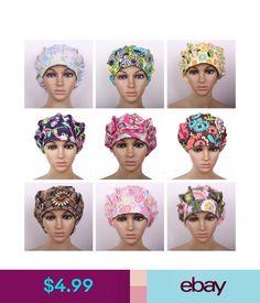 Hats Women s Flowers Pattern Printing Cap Bouffant Medical Surgical Surgery  Hat Cap  ebay  Fashion 24b0eb26ff83